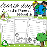 Earth Day Activities - Acrostic Poems (12 poems to print and go) FREEBIE!