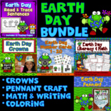 Earth Day Activities Bundle : Literacy, Math, Crowns, Wris
