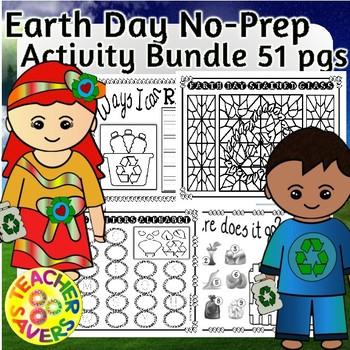 Earth Day Activities Bundle No-Prep