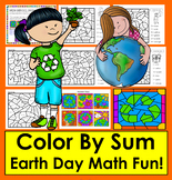 Earth Day Activities: Color By Sum - Addition Facts to 10