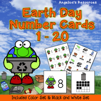 Earth Day Activities: Counting and Cardinality Number Cards 1 - 20