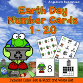 Earth Day Activities: Counting Cards - Numbers 1-20 - Number Sense - Ten Frames