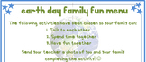 Earth Day Activities - Earth Day homework Chart - Earth Da