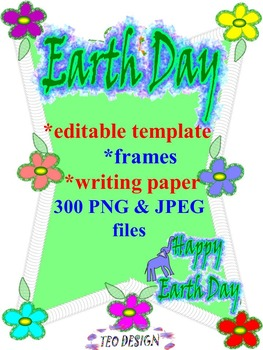 Earth Day Activities - Writing - Editable Template - Frame