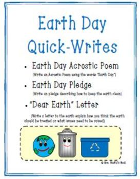 Earth Day Activities - Language Arts, Math, Science and Media Literacy