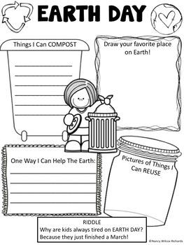 Earth Day Activities: Grades K-2 (Low Teacher Prep, Printables)