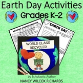 Earth Day Activities with Writing, Math and Earth Day Craft Distance Learning