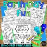 Earth  Day Activities Packet NO PREP Fun Math and Literacy Puzzles & Worksheets