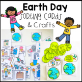 Earth Day Activities - Sorting Cards, Crafts and Writing Papers