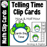 Earth Day Activities  - Time To The Half Hour Telling Time