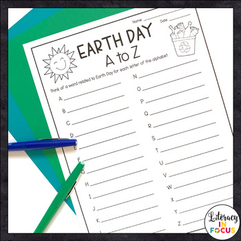Earth Day Activities | Word Games | Free