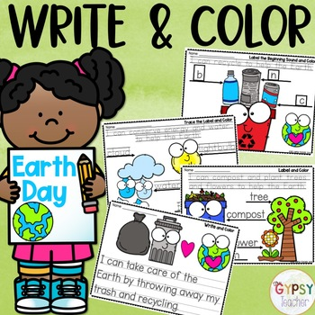Earth Day Activities - Write & Color | Distance Learning