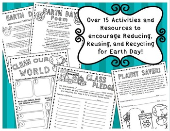 Earth Day Activities (Writing, Pledges, Poem, Song lyrics and more!)