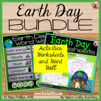 Earth Day Activities and Word Wall Bundle