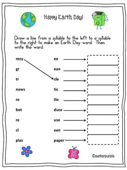 Earth Day Activities first and second grade