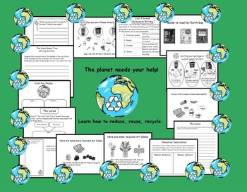 Earth Day Activities for Gr. 2-4   PDF   15 pages