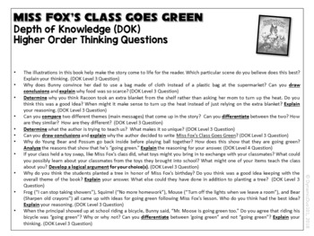 Earth Day Activities w/ Miss Fox's Class Goes Green Reading Activities (Gr. 1-3)