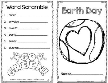 Earth Day Activity Book- Freebie!