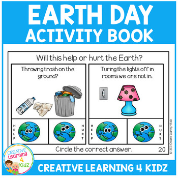 Earth Day Activity Cut & Paste Book Recycling