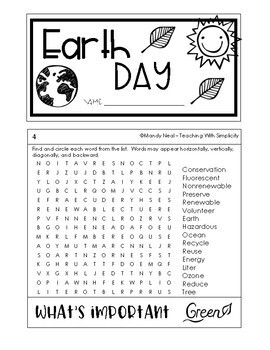 Earth Day Activity - Flip Book