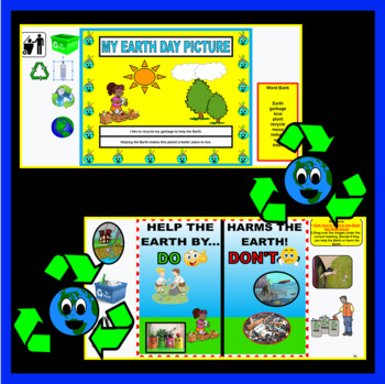 Earth Day Activity For Kindergarteners (Digital and Printable) Distance Learning