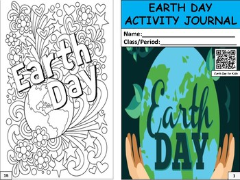 Earth Day Activity Journal