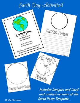 Earth Day Activity Kit! Writing & Poetry Prompt, Word Search, Poster Printables