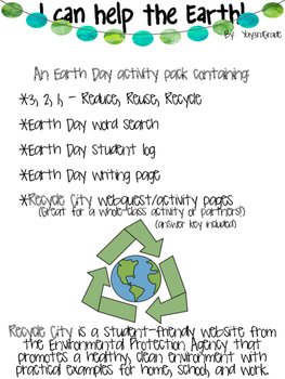 Earth Day Activity Pack