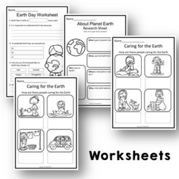 Earth Day Activity Pack Craft, Literacy & Math Activities, Posters & Vocabulary