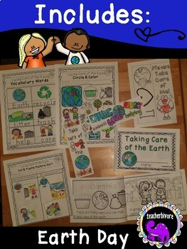 Earth Day Activity Pack: Taking Care of the Earth {Grades K-1}