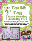 Earth Day Activity Pack with Close Reading and More UPDATED 2016