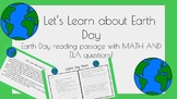 Earth Day Activity - Reading and Math!