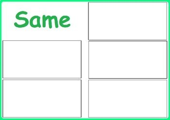 Earth Day Activity - Same and Different Sorting for Special Education