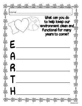 Earth Day Activity Sheet
