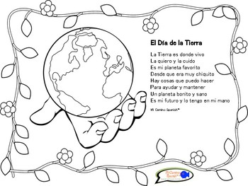 Earth Day Activity for Spanish Students (Worksheets, Poem, Vocabulary)