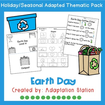 Earth Day Adapted Thematic Pack