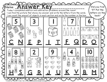 Earth Day Add & Subtract Around the Room!  PLUS Magnifying Glasses & Printables