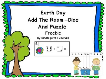 Earth Day Add The Room -Dice and Puzzle FREEBIE