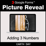 Earth Day: Adding 3 Numbers - Google Forms Math Game   Dis