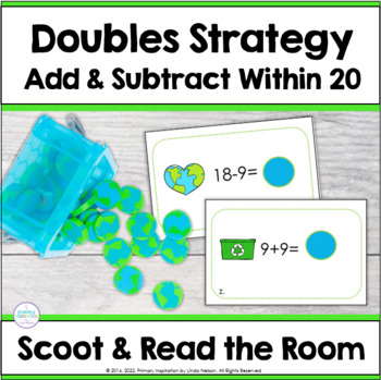 Earth Day Math ~ Adding Doubles Scoot & Read the Room