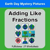 Earth Day: Adding Like Fractions - Color-By-Number Mystery