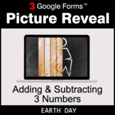 Earth Day: Adding & Subtracting 3 Numbers - Google Forms  