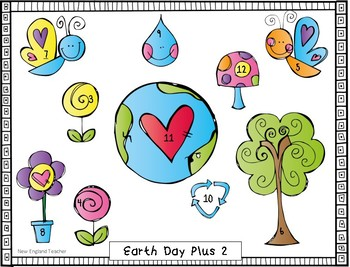 Earth Day Addition Bump Game Bundle for Plus 1, Plus 2, and Doubles Combinations
