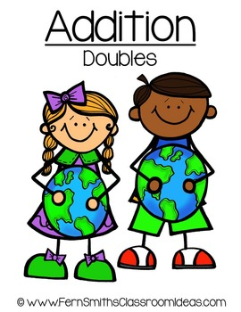 Earth Day Math A Quick and Easy to Prep Addition Doubles Center Game
