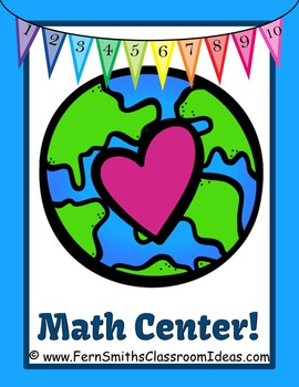 Earth Day Math A Quick and Easy to Prep Addition Doubles Plus One Center Game