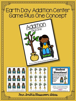 Earth Day Math A Quick and Easy to Prep Plus One Addition Center Game