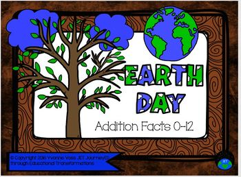 Earth Day Addition Facts 0-12