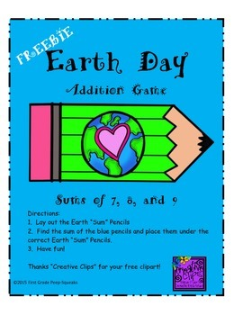 Earth Day Addition Game