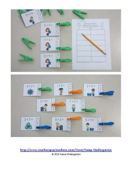 Earth Day Addition Math Centers (Sums of 0 to 10)