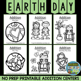 Earth Day Math Six Quick and Easy to Prep Addition Center Games Dollar Deal